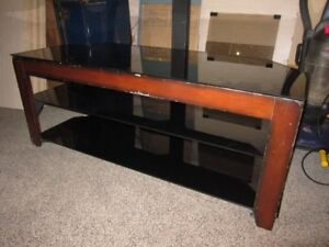 3 Tier TV Stand With Glass Shelves For Sale