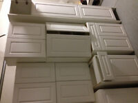 White Kitchen cabinets NEW condition