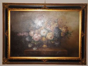 OIL ON CANVAS BEAUTIFUL PAINTING MADE IN ITALY.  HUILE SUR TOILE