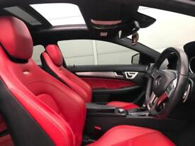 2013 13 Mercedes-Benz C63 AMG 6.3 Coupe Black + RED LEATHER + HUGE SPEC