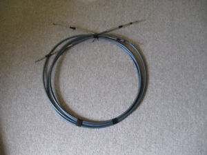 Yamaha outboard control cables, 11 ft. long,  mint condition
