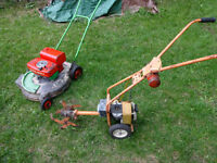 Vintage Lawn Boy Commercial Mower and Tiller
