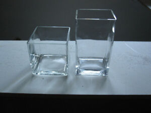 TWO PCE MODERN GLASS VASES/CANDY/COOKIE/POTPOURI HOLDERS ETC!