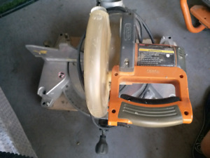 "Ridgid 10"" inch compound miter saw."