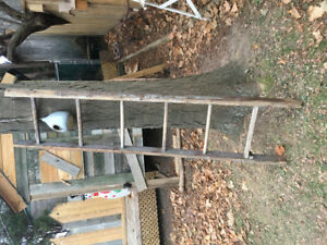 Antique vintage wood orchard ladder