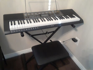Casio LK-265 Musical keyboard bench and stand for sale