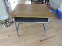 Small Wood and Metal Desk
