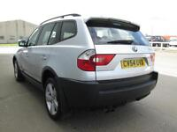 BMW X3 2.5I SPORT SILVER 6 SPEED MANUAL LOW MILES PARKING SENSORS