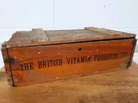 1920s Vintage Wooden Pharmacy Storage Box.