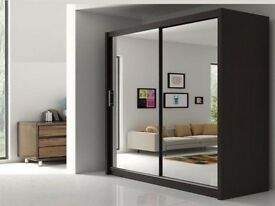 Cheapest Price on Gumtree!! Brand New Berlin 2 Door Sliding German Wardrobe With FULL MIRROR