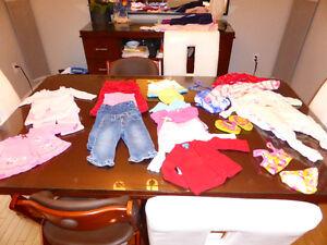 Lot de vêtements fillette 12 mois