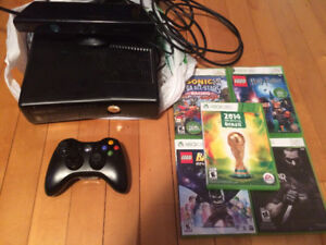 Xbox360 with Kinect and 5 video game