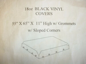 2 Black Vinyl Covers/Tarps Available