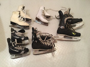 Multiple pairs of skates for sale