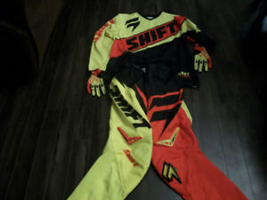 shift motocross pants jersey and gloves
