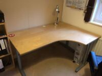Ikea office furniture (corner desk and unit)