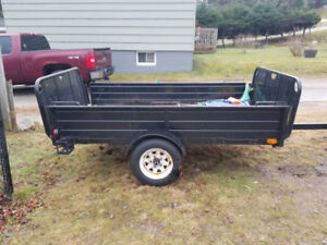 trailer 10ft long 55inch wide trade for 4 new studded tires