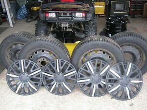 Rims,Tires,and wheel covers.