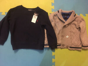 New Ralph Lauren nautica sweaters boys 4 t clothes lot winter