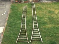 Two Wooden Orchard Ladders