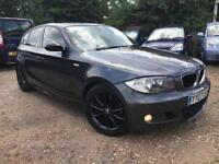 2007 BMW 118 2.0TD 2007MY d M Sport-SAT NAV-FSH-2 KEYS-LEATHER-START/STOP