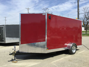 6' x 12' V-Nose Cargo Trailer • 3 Year Warranty • Made in Canada Kitchener / Waterloo Kitchener Area image 3