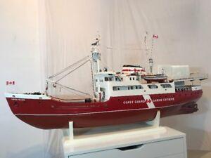 CCGS Simon Fraser - wooden model ship