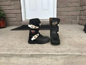 Kids Motocross Boots and Chest Protector