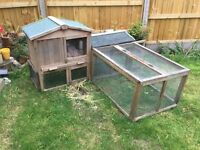 Rabbit hutch cage two level with extension run