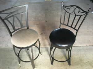 two high swivel chairs