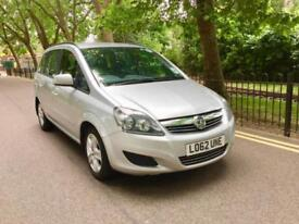 Vauxhall Zafira 1.6 Exclusiv 2013 PCO ready Petrol 7 Seater low miles