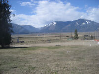 Gently Sloping Lot Overlooking Creston Flats BC   NO building co