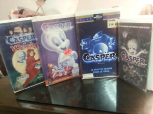 x4 cassettes vhs collection Casper