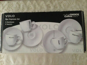VOLO 8pc Espresso Set!
