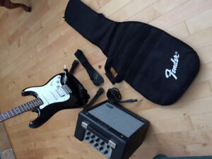 Squires Strat Fender Guitar, Fender Amp and more..