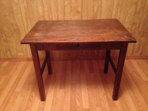 Old wooden desk.