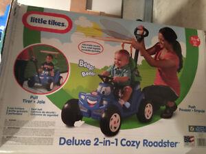 Kids bike- deluxe 2 in 1 cozy roadster