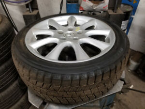 215 45 17 winters  on OEM Acura ILX TSX Honda Civic alloys 5x114