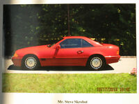 VINTAGE 1990 TWO TONE RED MERCEDES-BENZ 500SL CONVERTIBLE