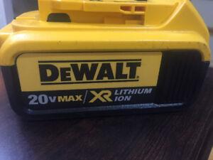 Dewalt Batteries 4amp 20V