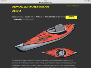 2 brand new Advanced elements kayaks AE1012 for sale