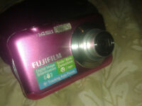 Gently Used Pink Digital Camera with 2 GB SD Card