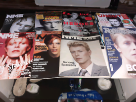 Rare collection of David Bowie MEMORABILIA magazines.