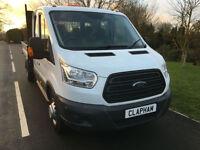 2015 64 FORD TRANSIT TIPPER 350 L3 2.2CDTI 125BHP EURO 5 DOUBLE CAB 1 OWNER