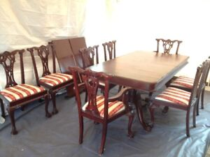nice dining set kitchen table 8 chairs 2 extention