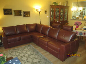 Luxury Sectional Leather Couch Sofa
