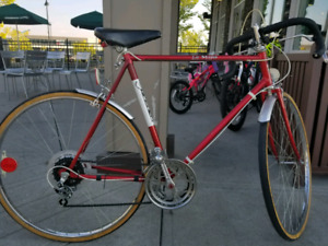80's vintage road bicycle flame size  L