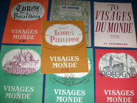VISAGES DU MONDE-COLLECTION OF 7 VINTAGE BACK ISSUES-1940S