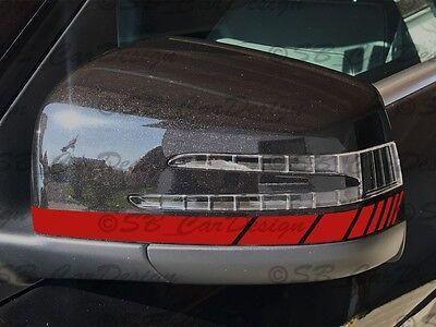 Außenspiegel Aufkleber Streifen Stripes f. GLE C 292 W166 ML Klasse Mercedes AMG