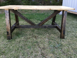 Hand Crafted rustic picnic table